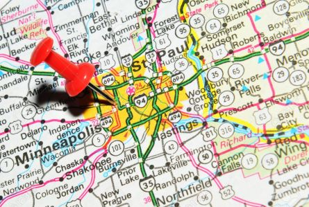 14500632-London-UK-13-June-2012-St-Paul-Minnesota-marked-with-red-pushpin-on-the-United-States-map--Stock-Photo